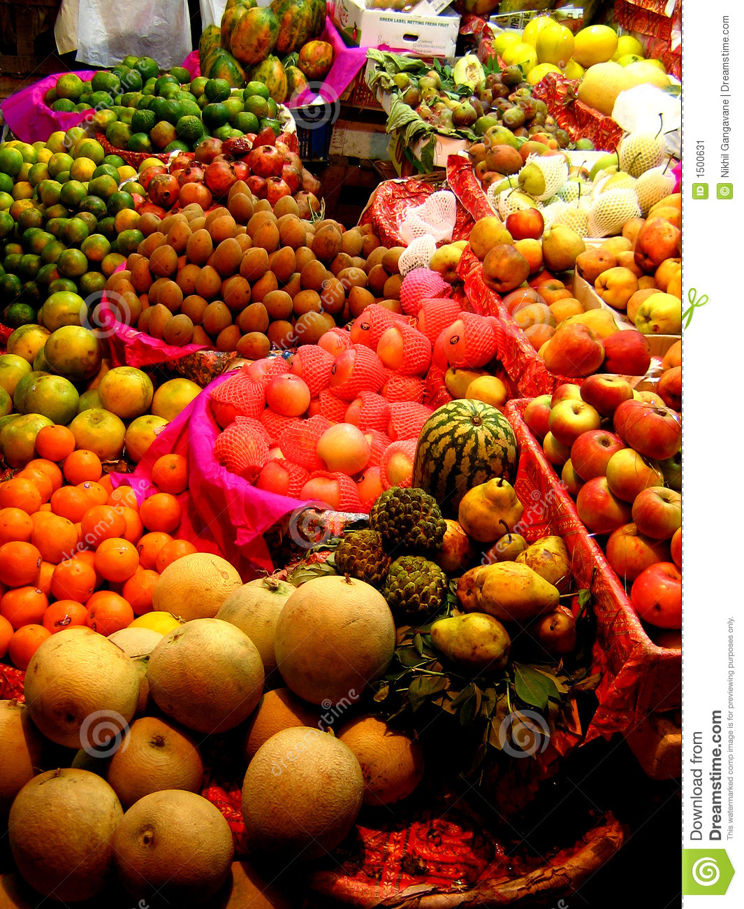 fruit stall in an Indian Market Indian Market Stall