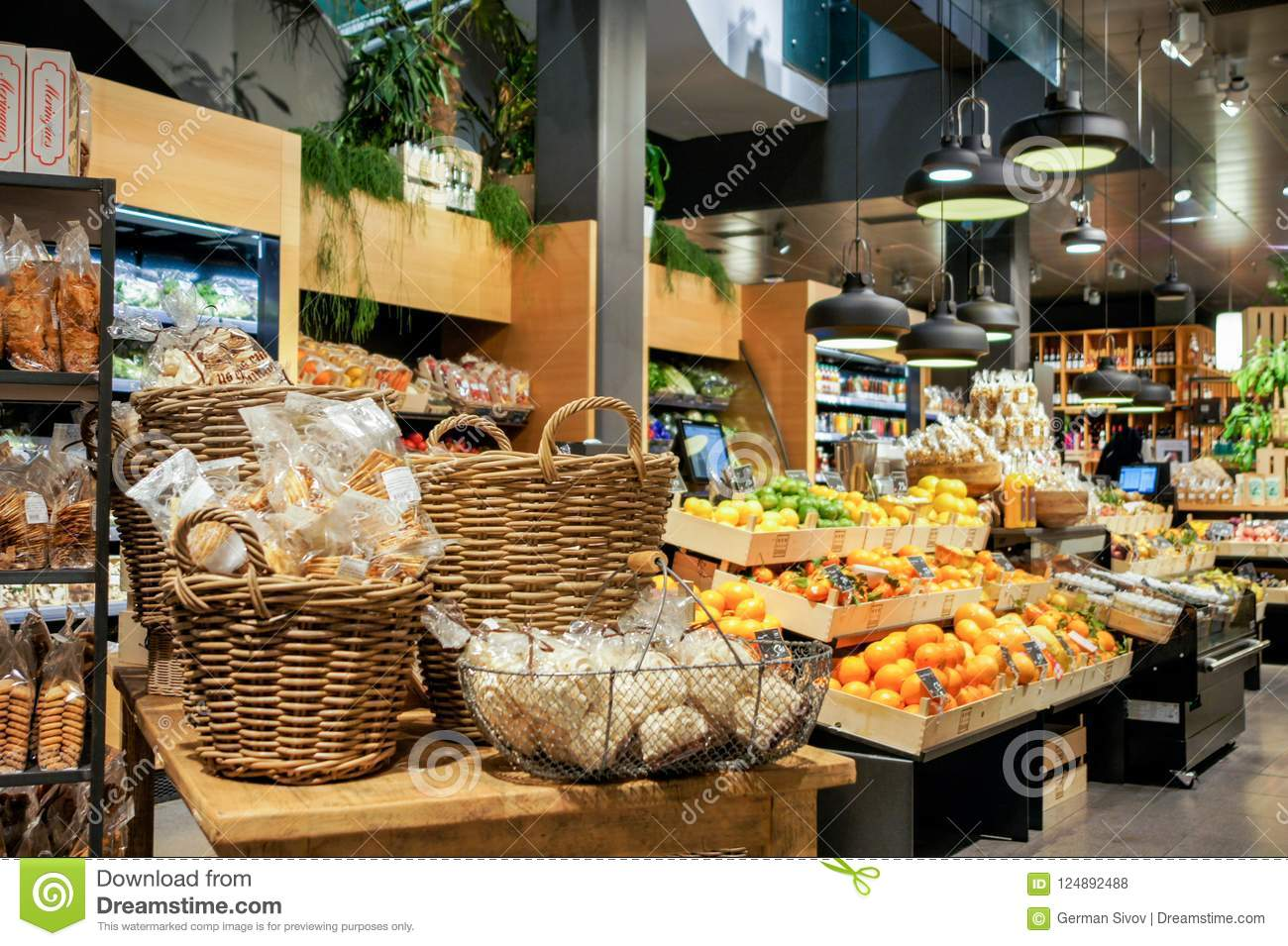 Fruit in the store  stock photo  Image of person, distributor