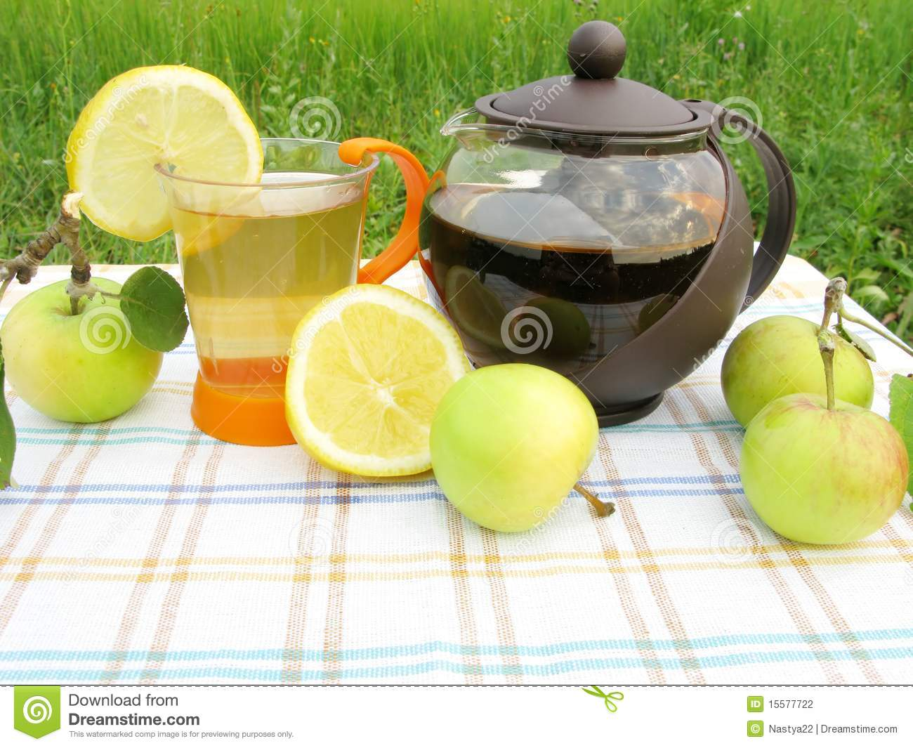 Fruit Tea With Apple And Lemon Stock Photography - Image: 15577722