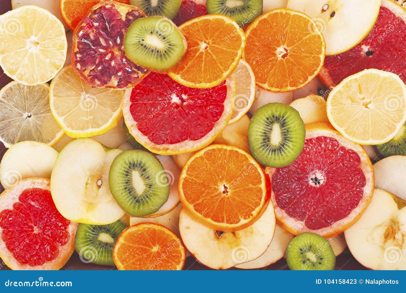 fruit textures kiwi orange grapefruit lemon apple pear pomegranate