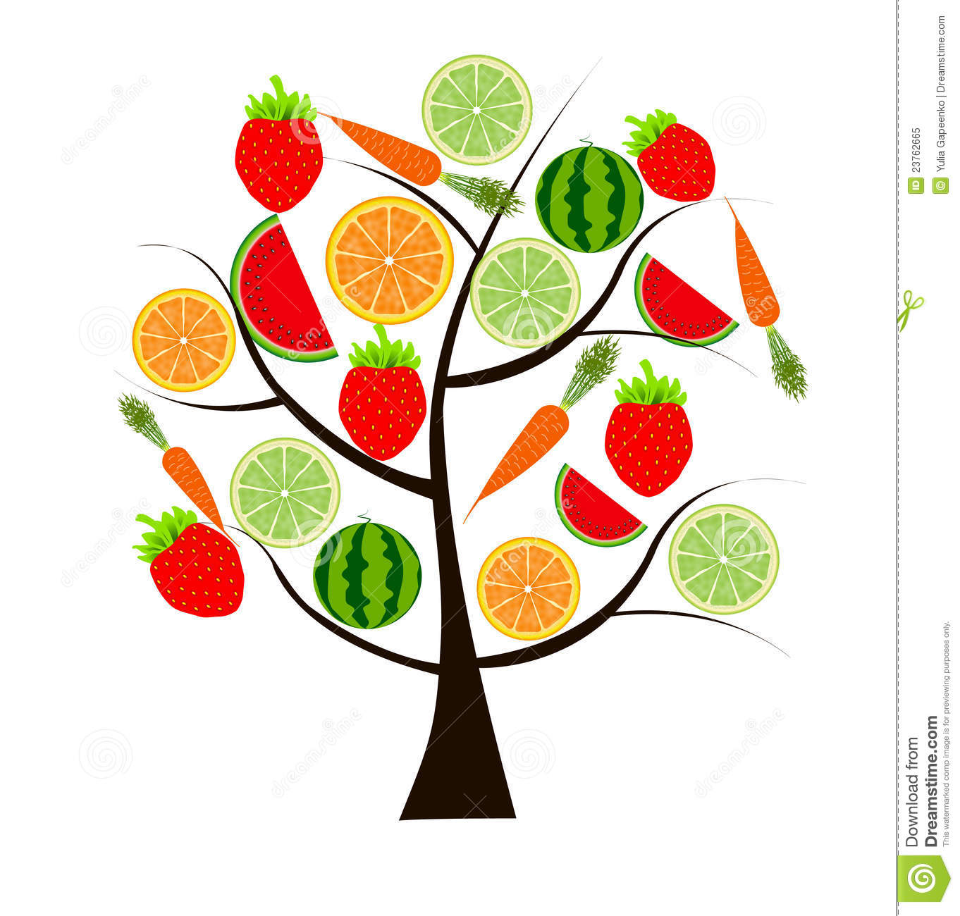 Fruit Tree For Your Design Illustration Royalty Free Stock ...