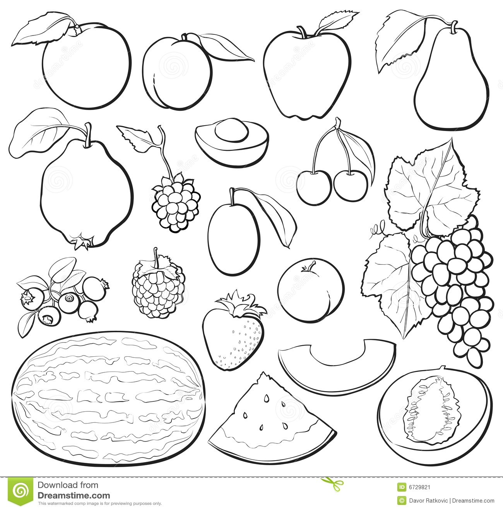 Fruit vastgestelde b&w
