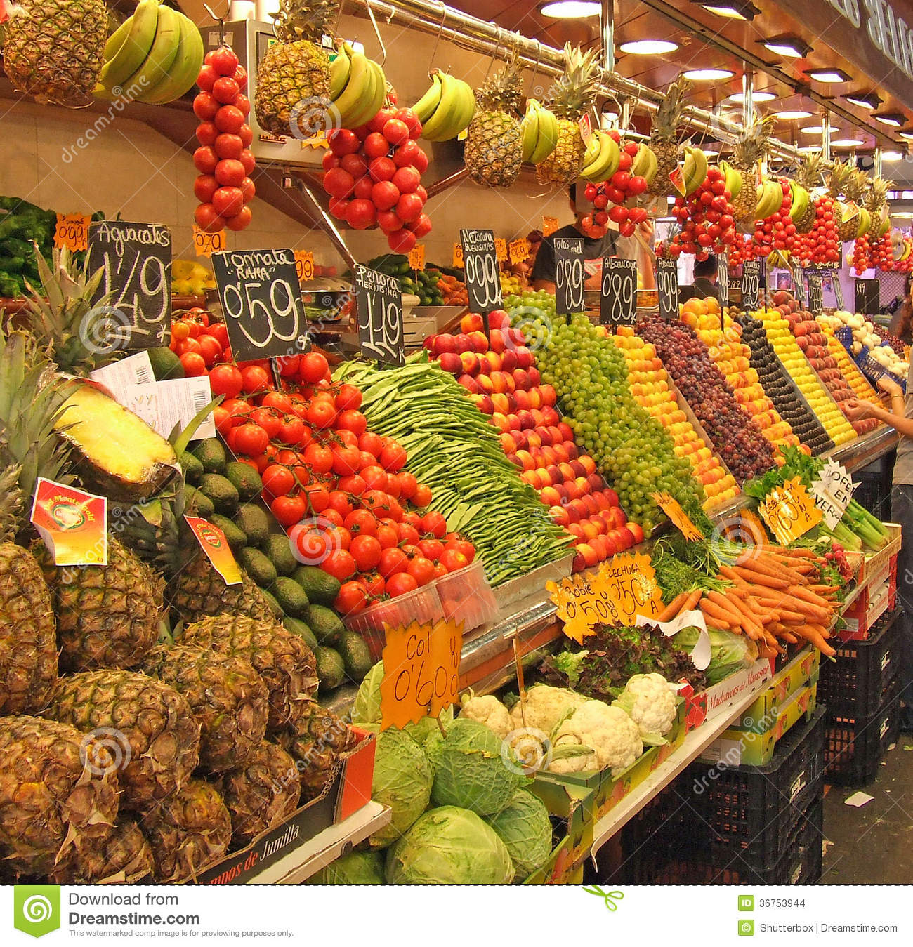 Beautiful fruit pictures - Fruit And Vegatable Stall Southern Spain Editorial Stock Image