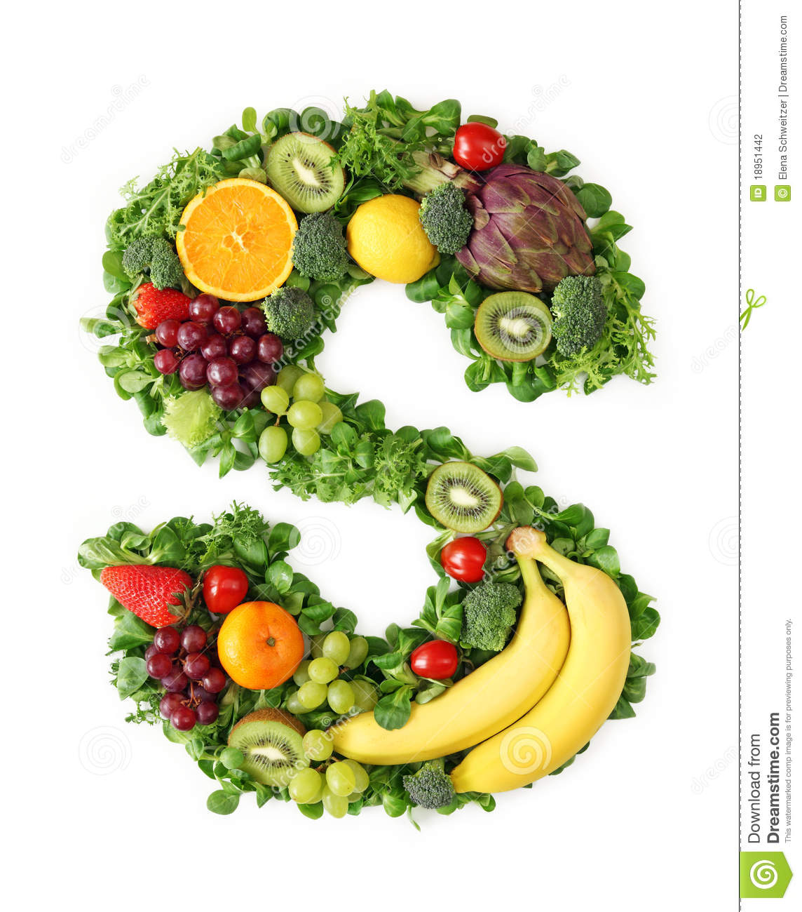 Fruit And Vegetable Alphabet Stock Photography - Image: 18951442