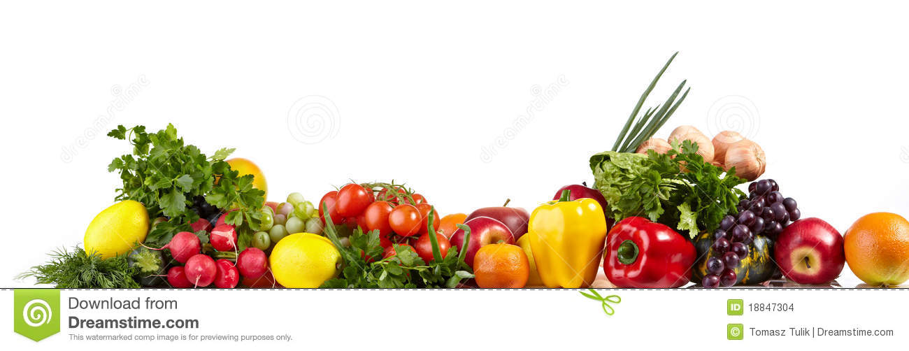 Fruit And Vegetable Borders Stock Images - Image: 18847304