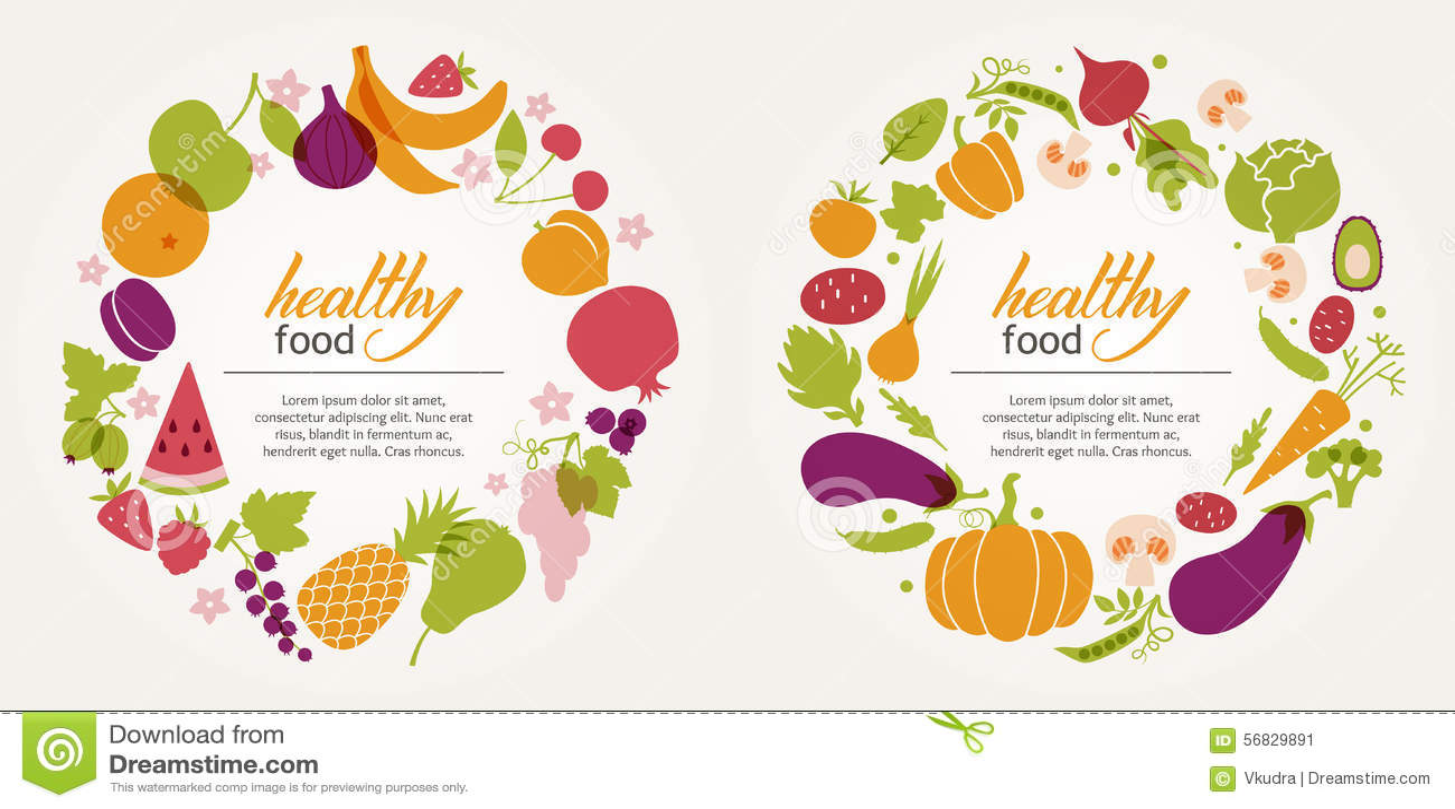 Fruit and vegetable decorative frames stock vector image for Vegetable design