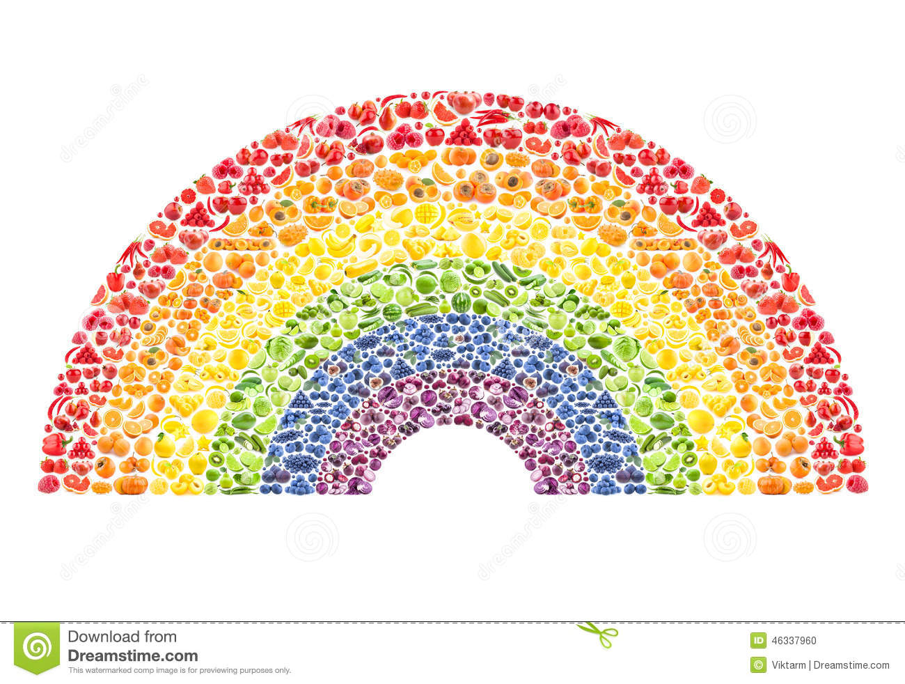 Fruit And Vegetable Rainbow Stock Photo - Image: 46337960