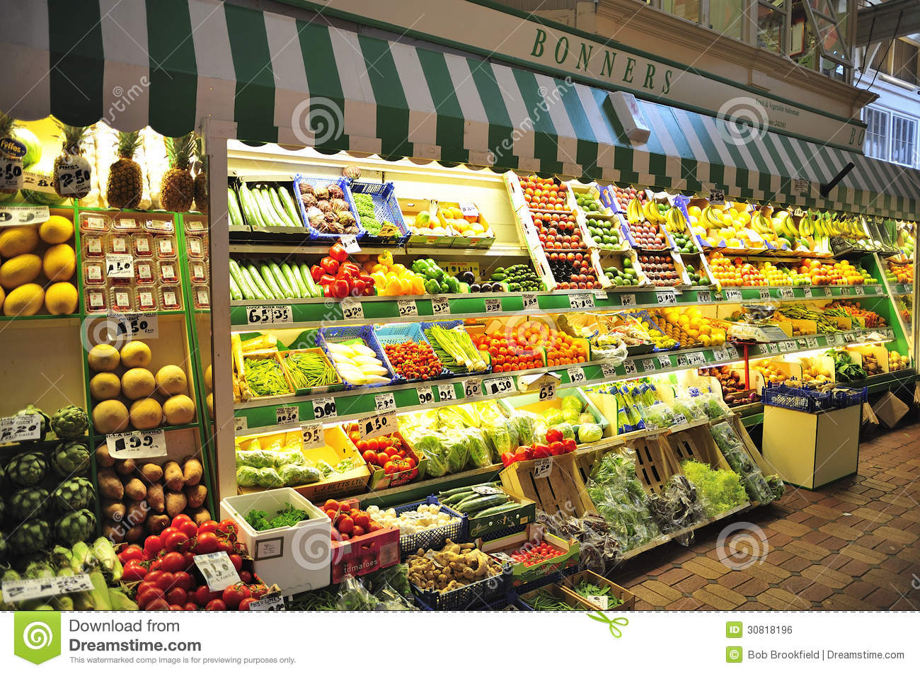 Fruit And Vegetable Stall, Oxford Market Editorial Photo - Image ...