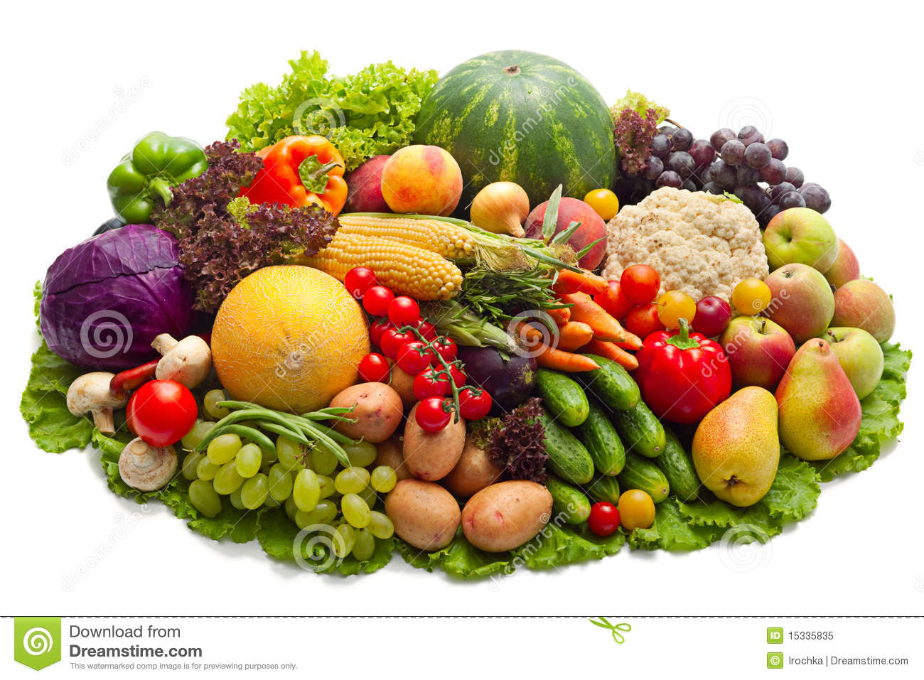 Fruit And Vegetables Stock Image Image Of Harvest Life