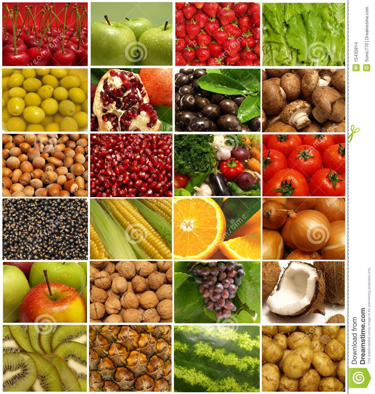 fruit and vegetables stock images image 15435814