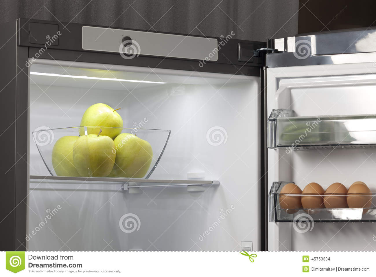 Fruit And Vegetables In The Fridge Stock Photo Image