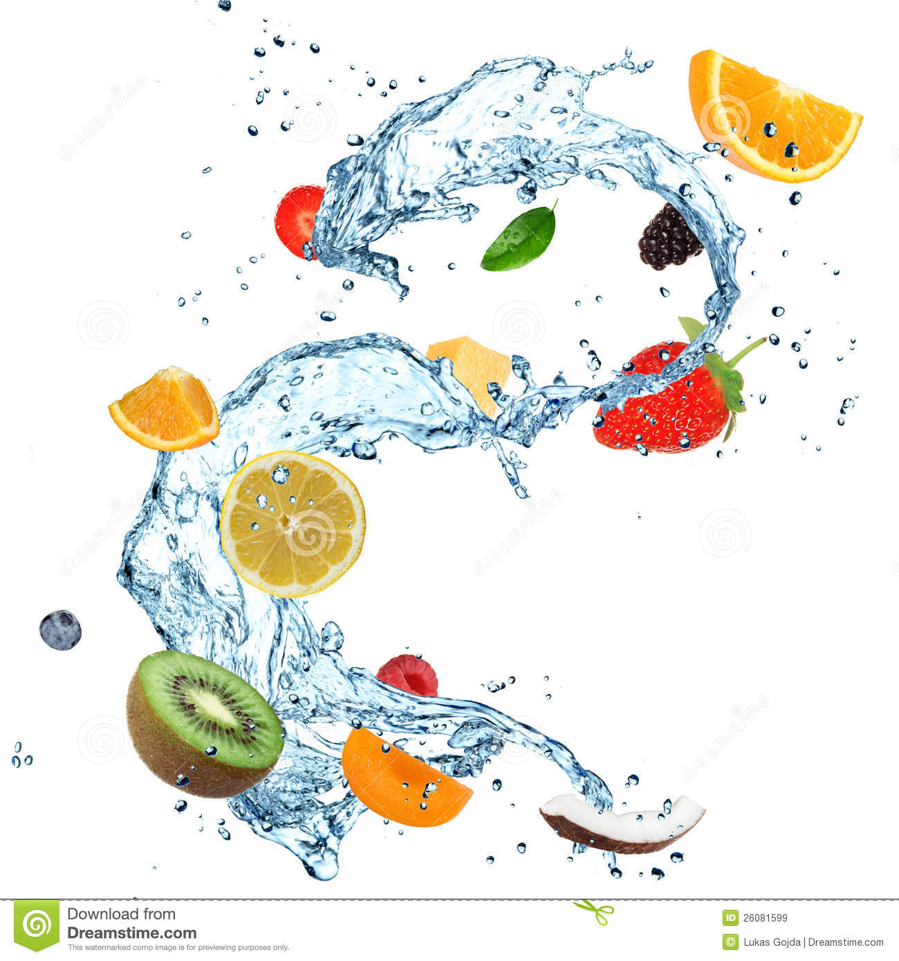 Fruit Water splash