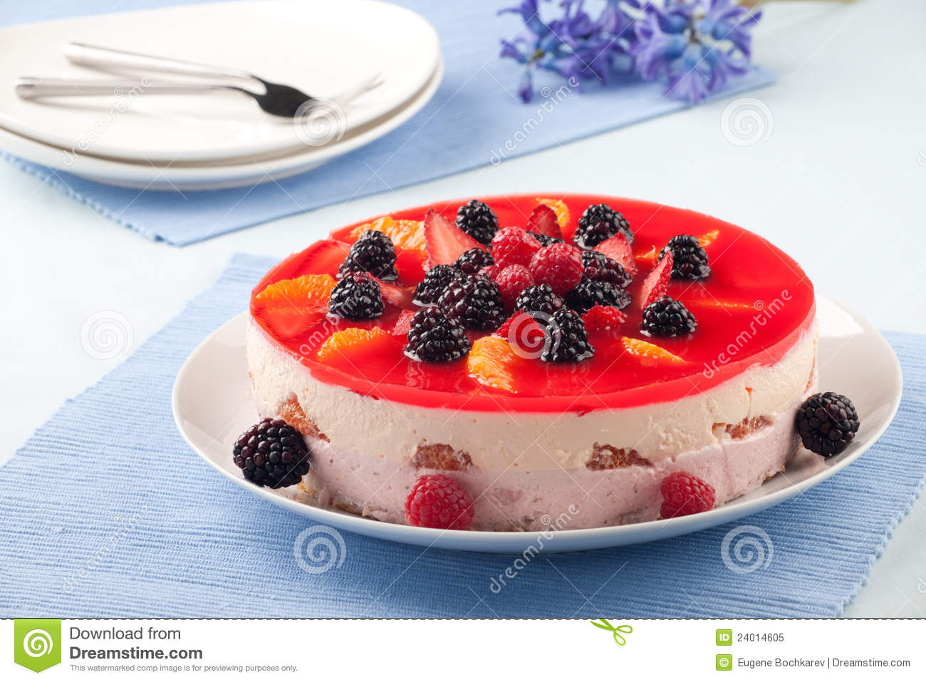 Cake With Fruit Yogurt : Fruit Yogurt Cake Royalty Free Stock Photo - Image: 24014605