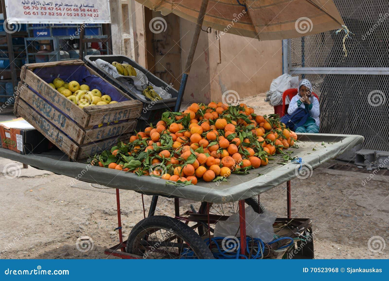 Fruitbox in Marrakech, Marokko, Afrika