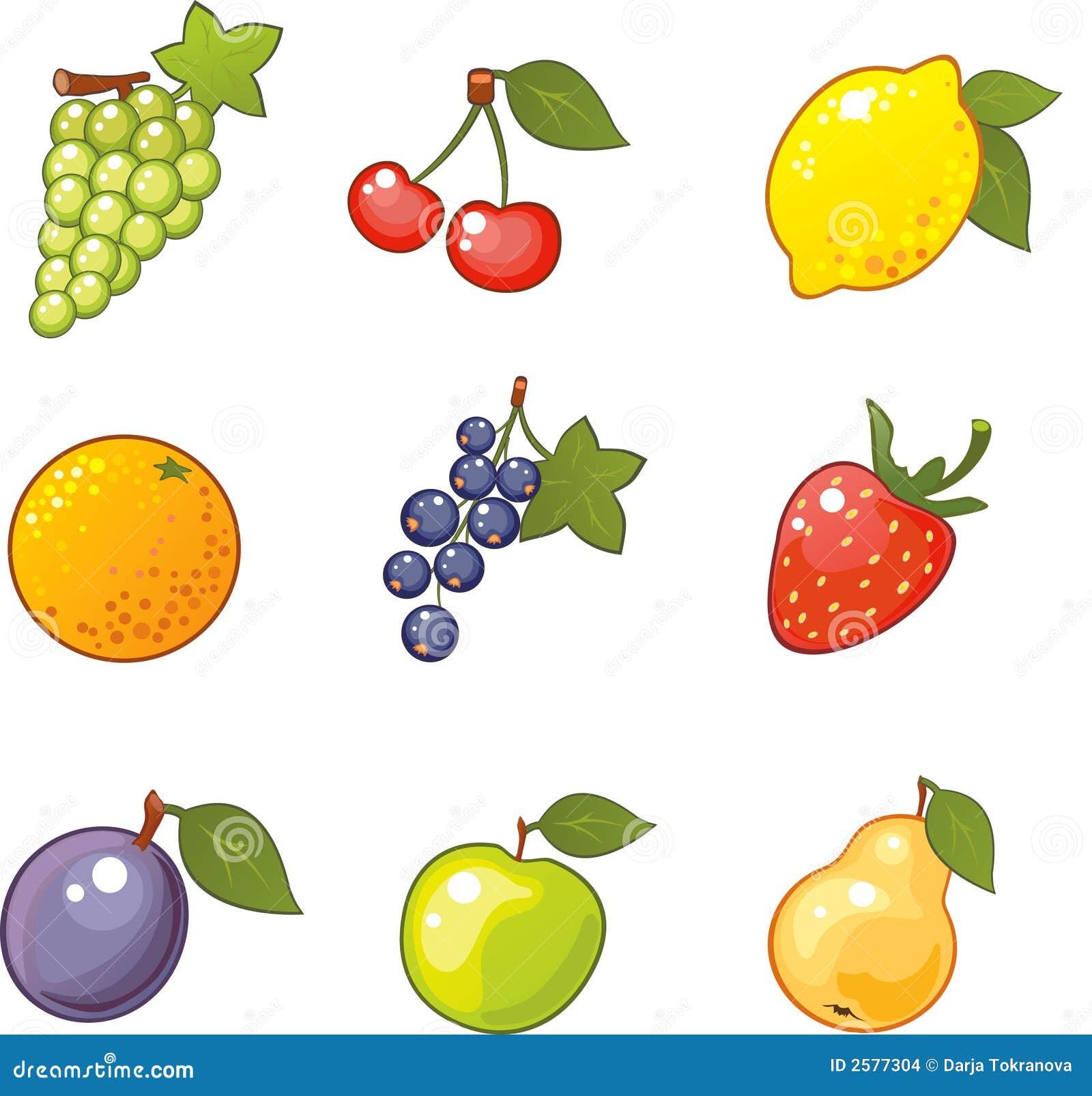 Fruitige pictogrammen