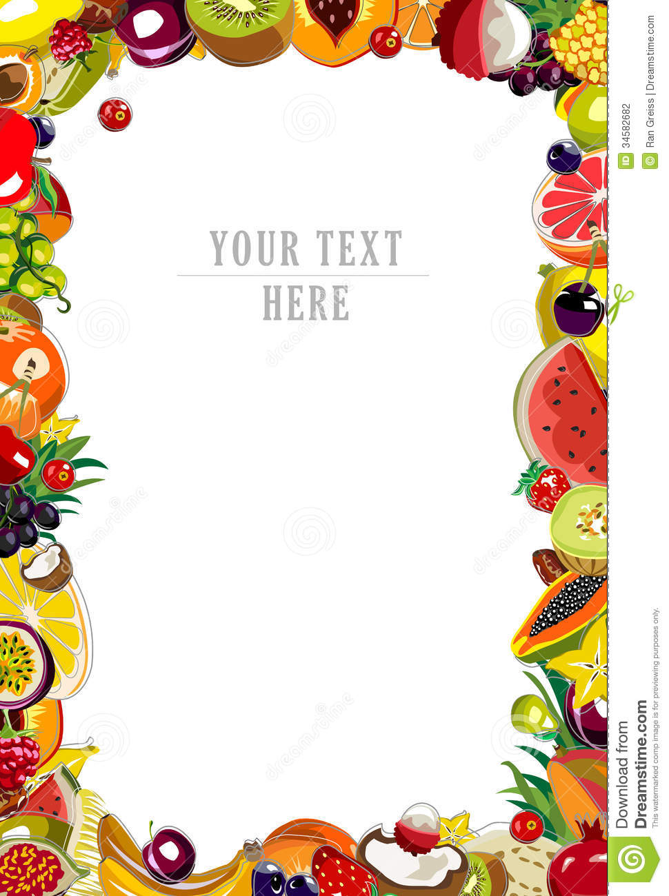 Fruits Background Frame Stock Photography Image 34582682