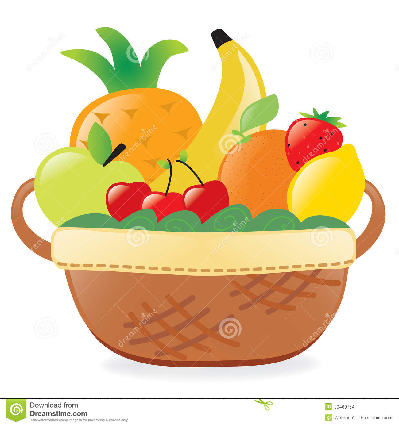 Fruits In A Basket Stock Images - Image: 30460754