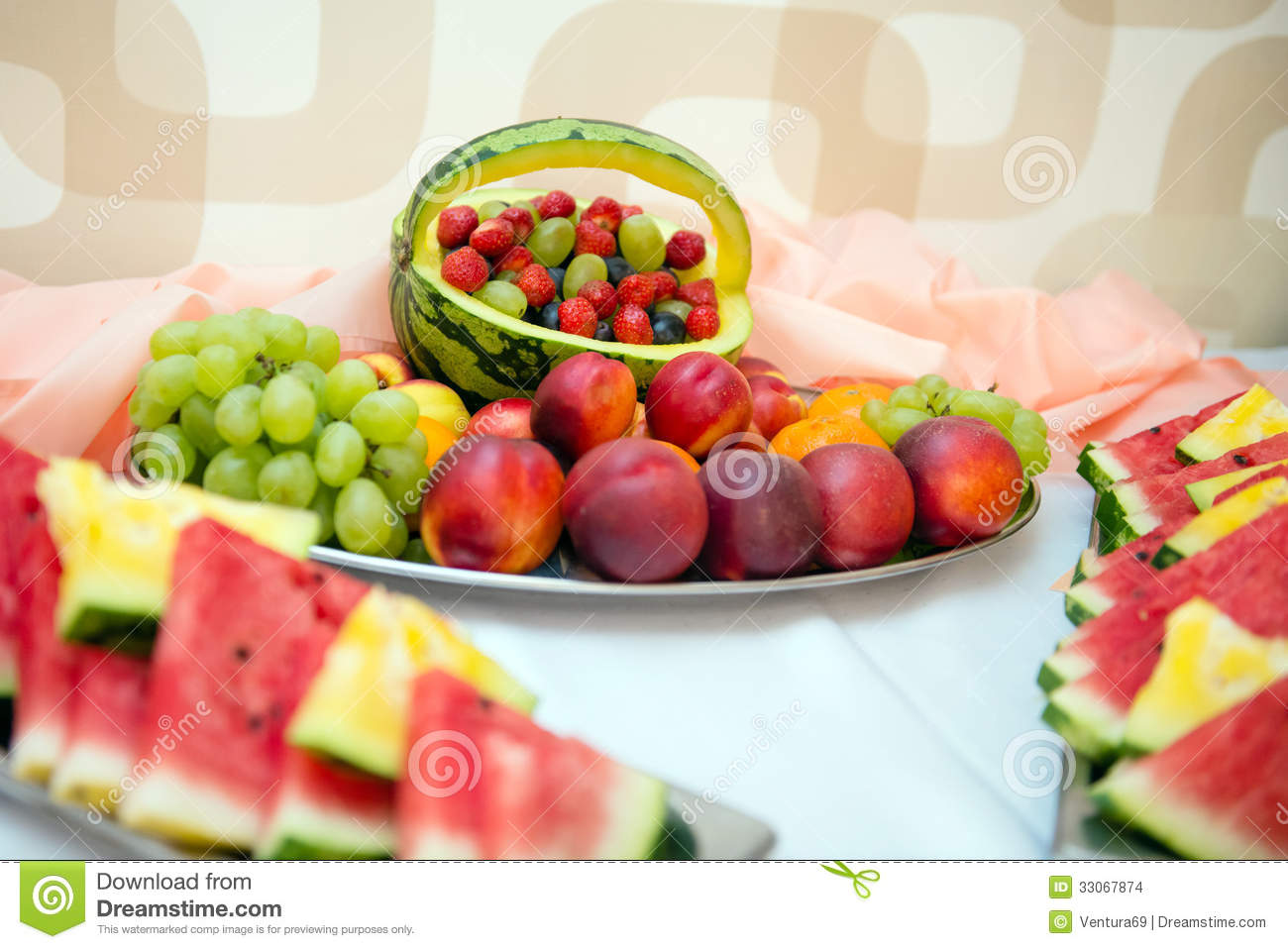 fruit table for wedding are berries fruit