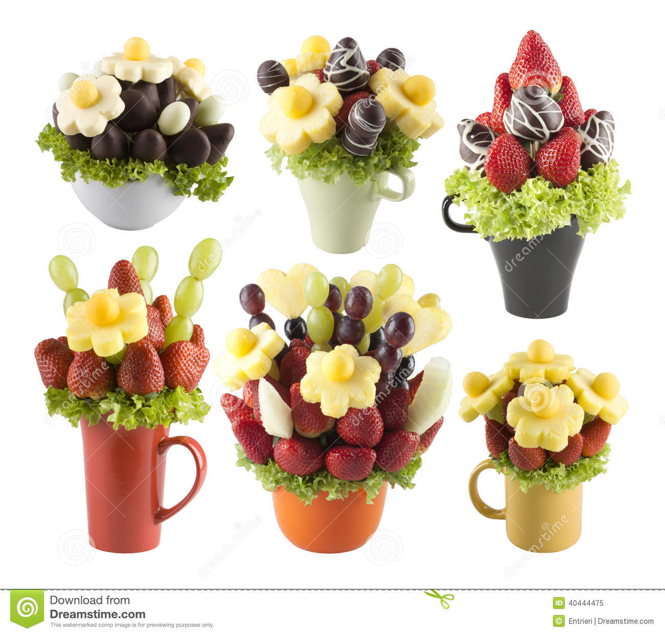 Fruits Bouquets Of Flowers Stock Image Image Of Assortment 40444475