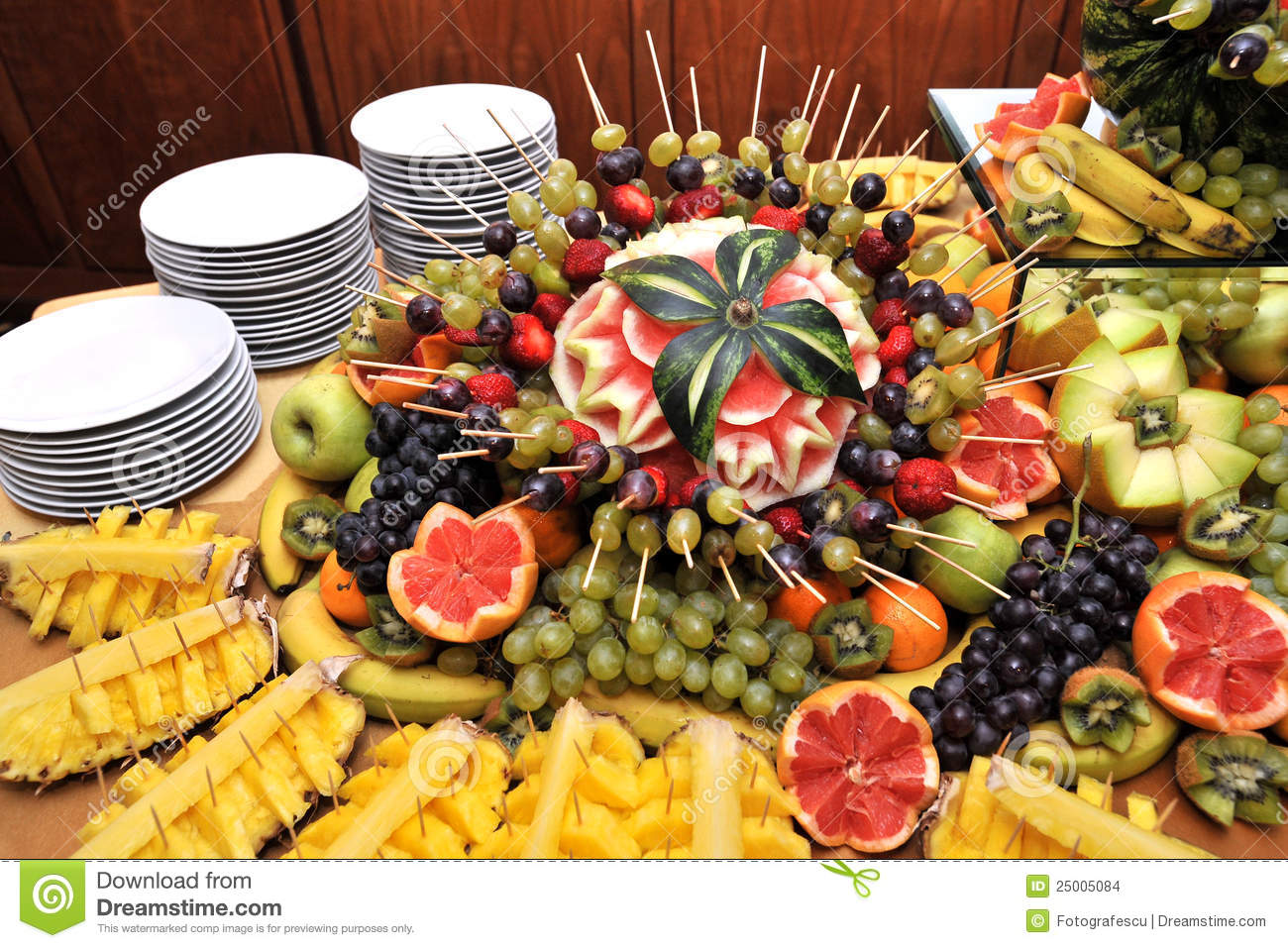 Fruits On A Buffet Table Stock Images Image 25005084