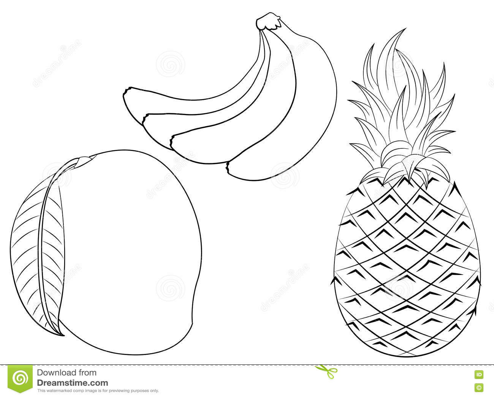 Printable Banana Coloring Page Free PDF Download At