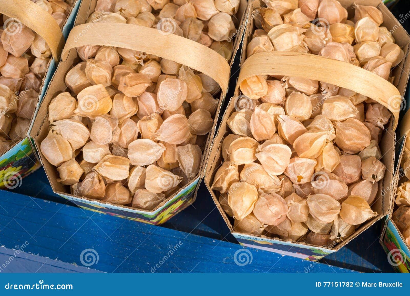 Fruits de coqueret comestible de Physalis