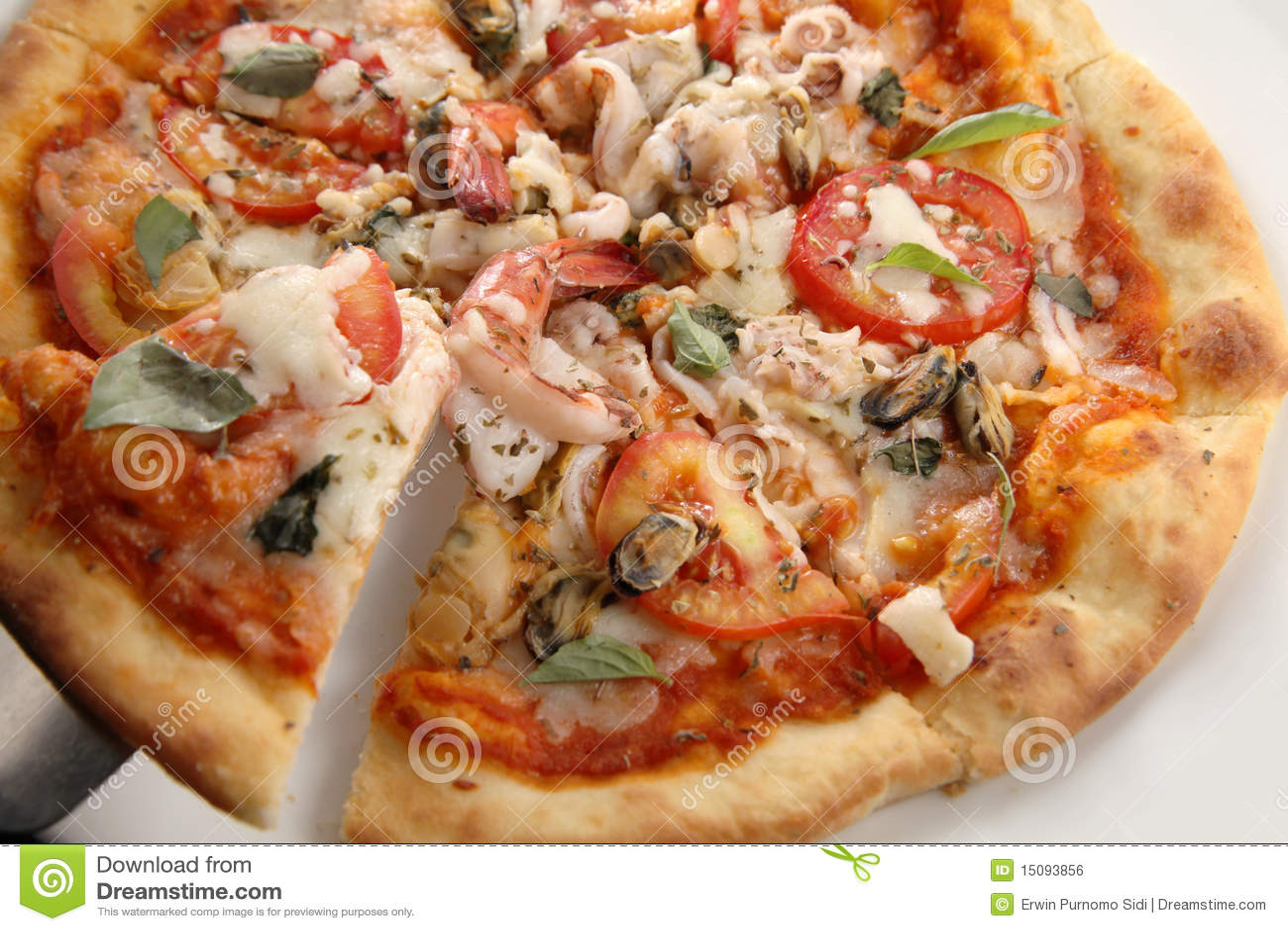 fruits de mer de pizza photo stock image du italien 15093856. Black Bedroom Furniture Sets. Home Design Ideas