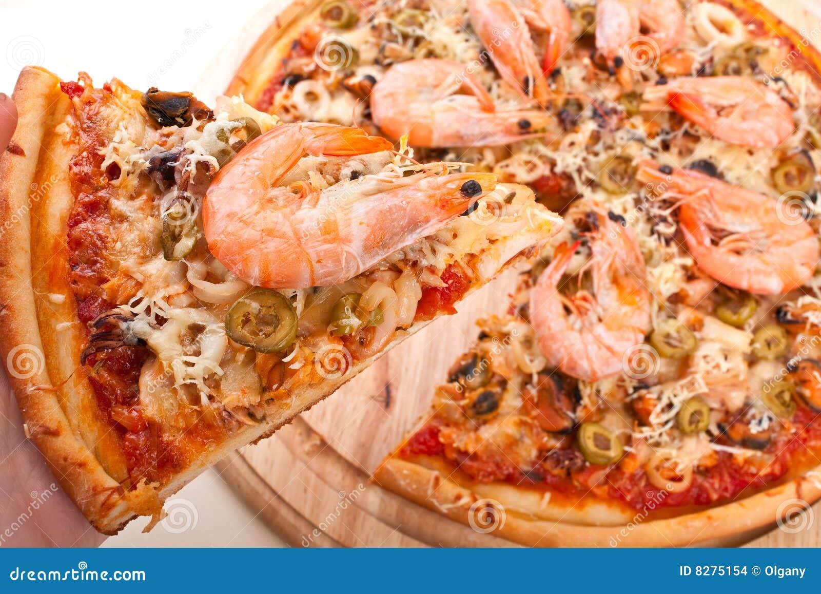fruits de mer de pizza photo stock image du poivre homemade 8275154. Black Bedroom Furniture Sets. Home Design Ideas