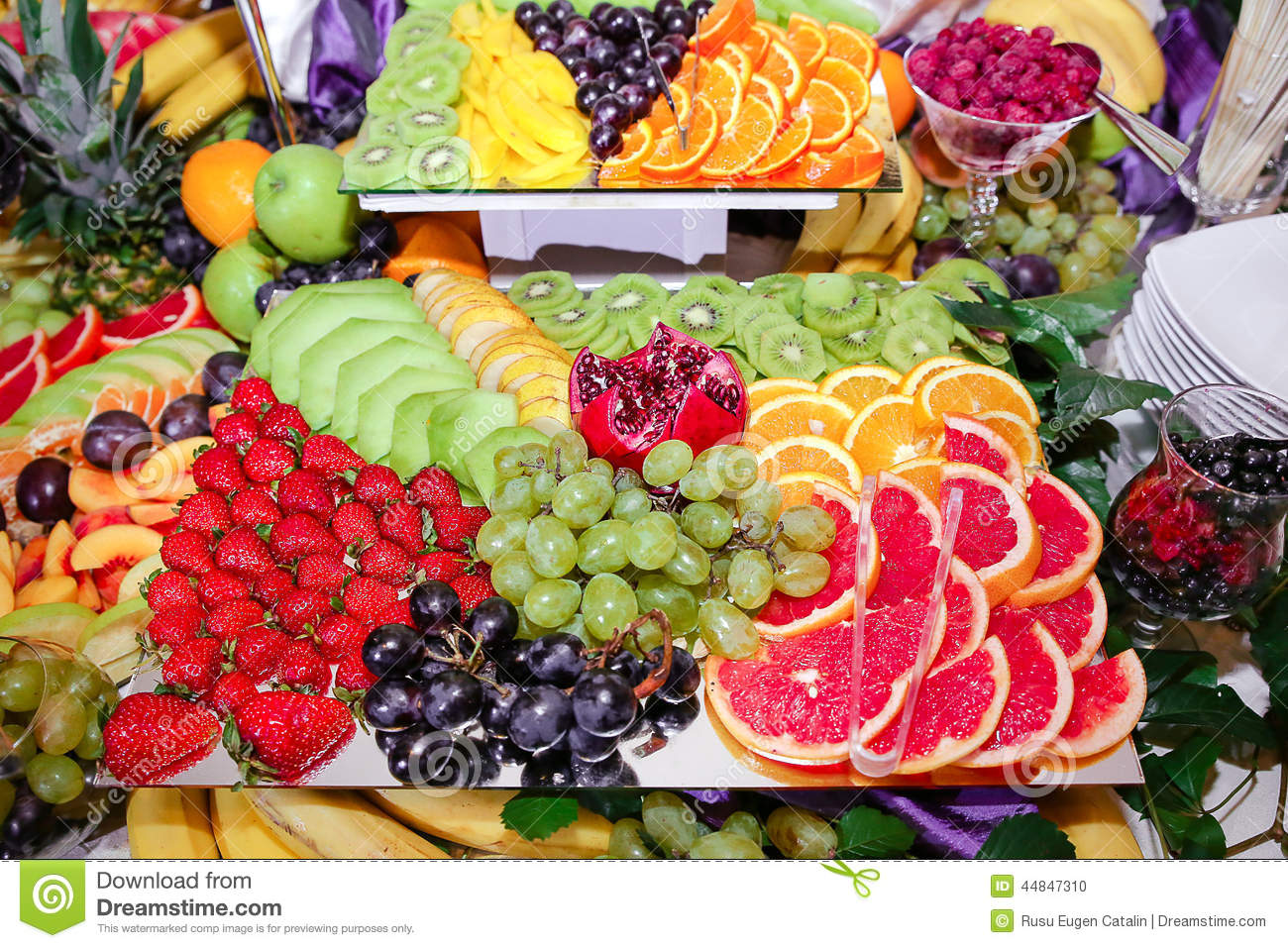 Fruits Decoration Stock Photo Image 44847310