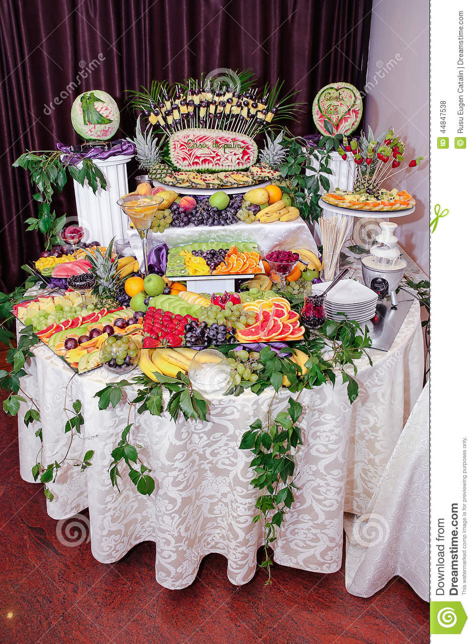 Fruits Decoration Stock Photo Image Of Pasteles