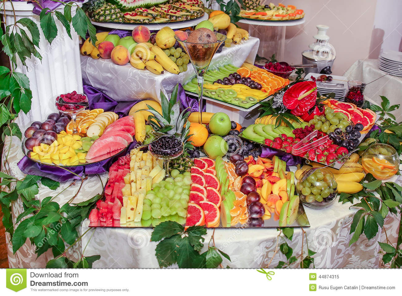 Fruits decoration stock photo image 44874315 - Deco table exterieur ...