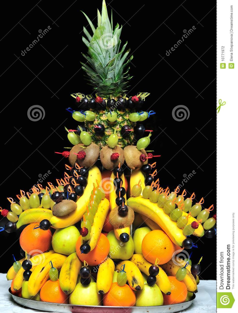 Fruits decorations stock photography image 10771972 for Decoration fruit