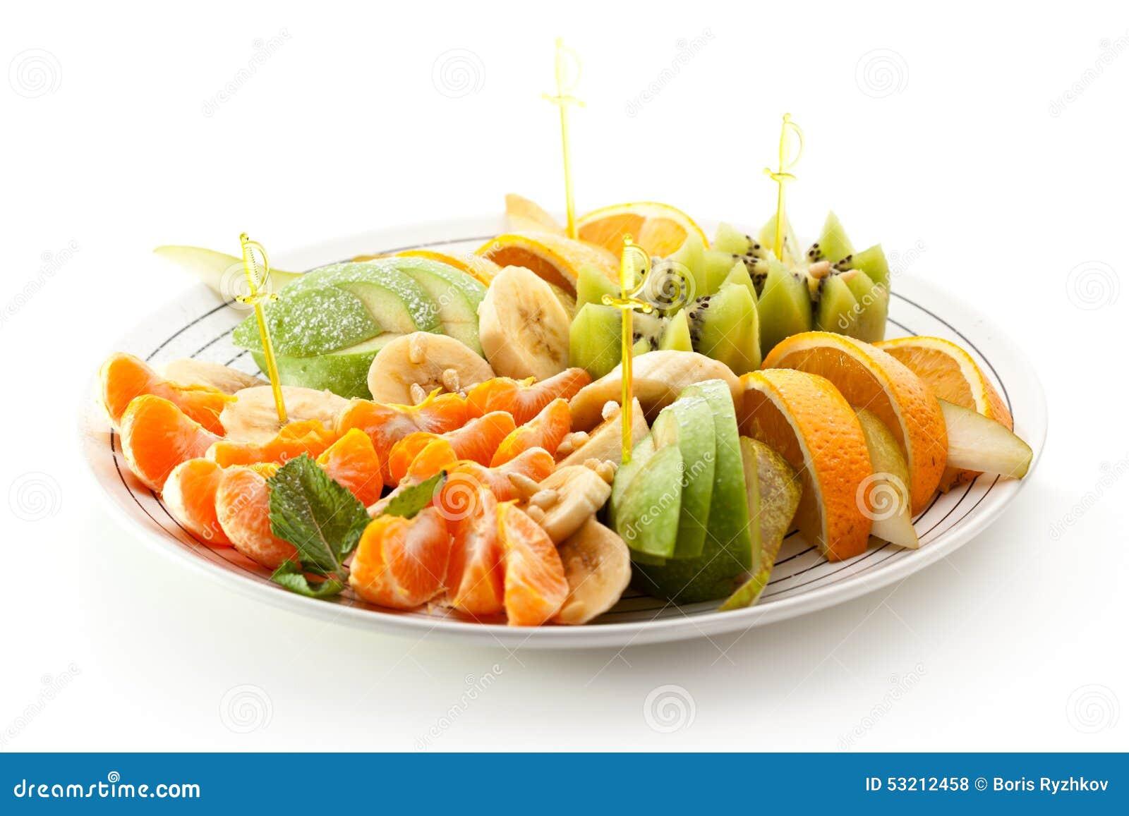 Fruits Dish stock photo. Image of banana, orange ...