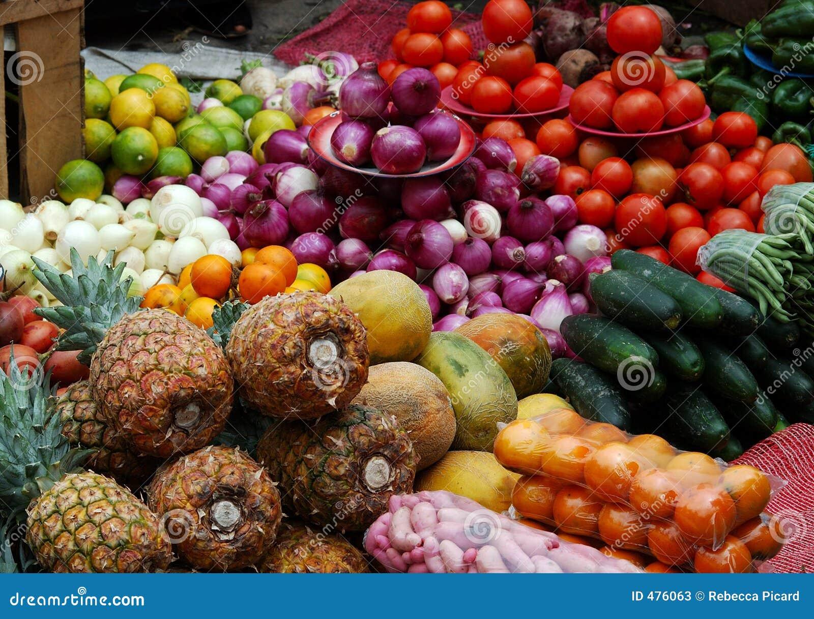 Fruits et légumes abondants