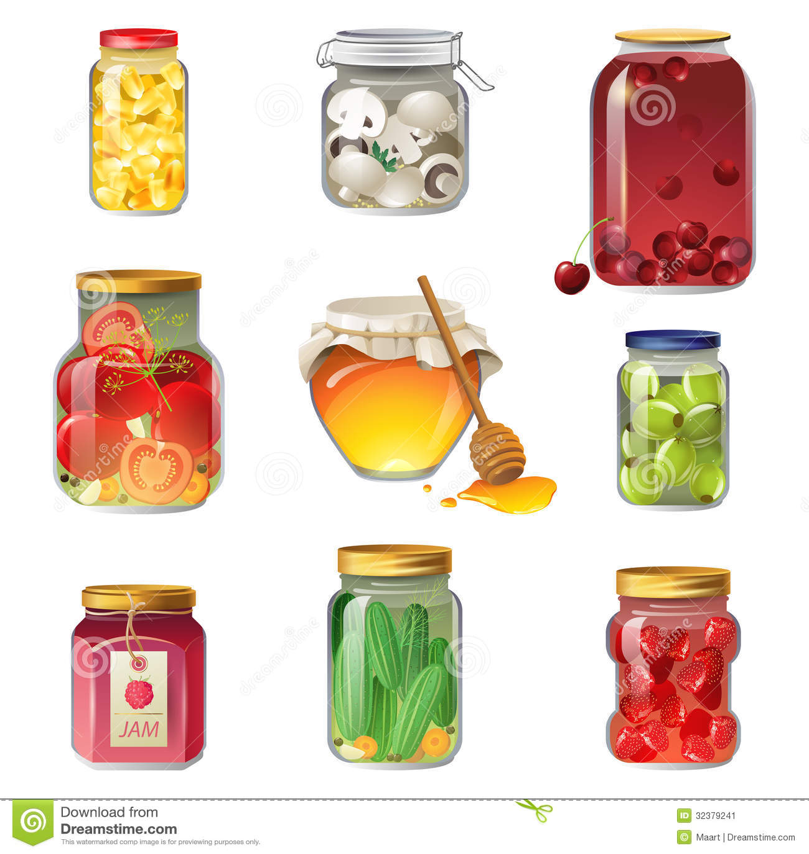 fruits et l gumes conserve de fruits image stock image 32379241. Black Bedroom Furniture Sets. Home Design Ideas