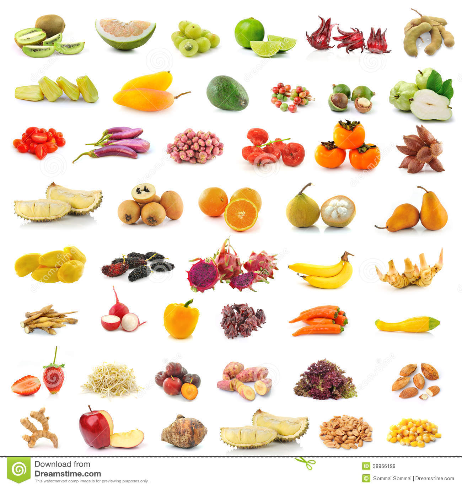 Fruits et l gumes sur le fond blanc photo stock image - Fruit ou legume en y ...