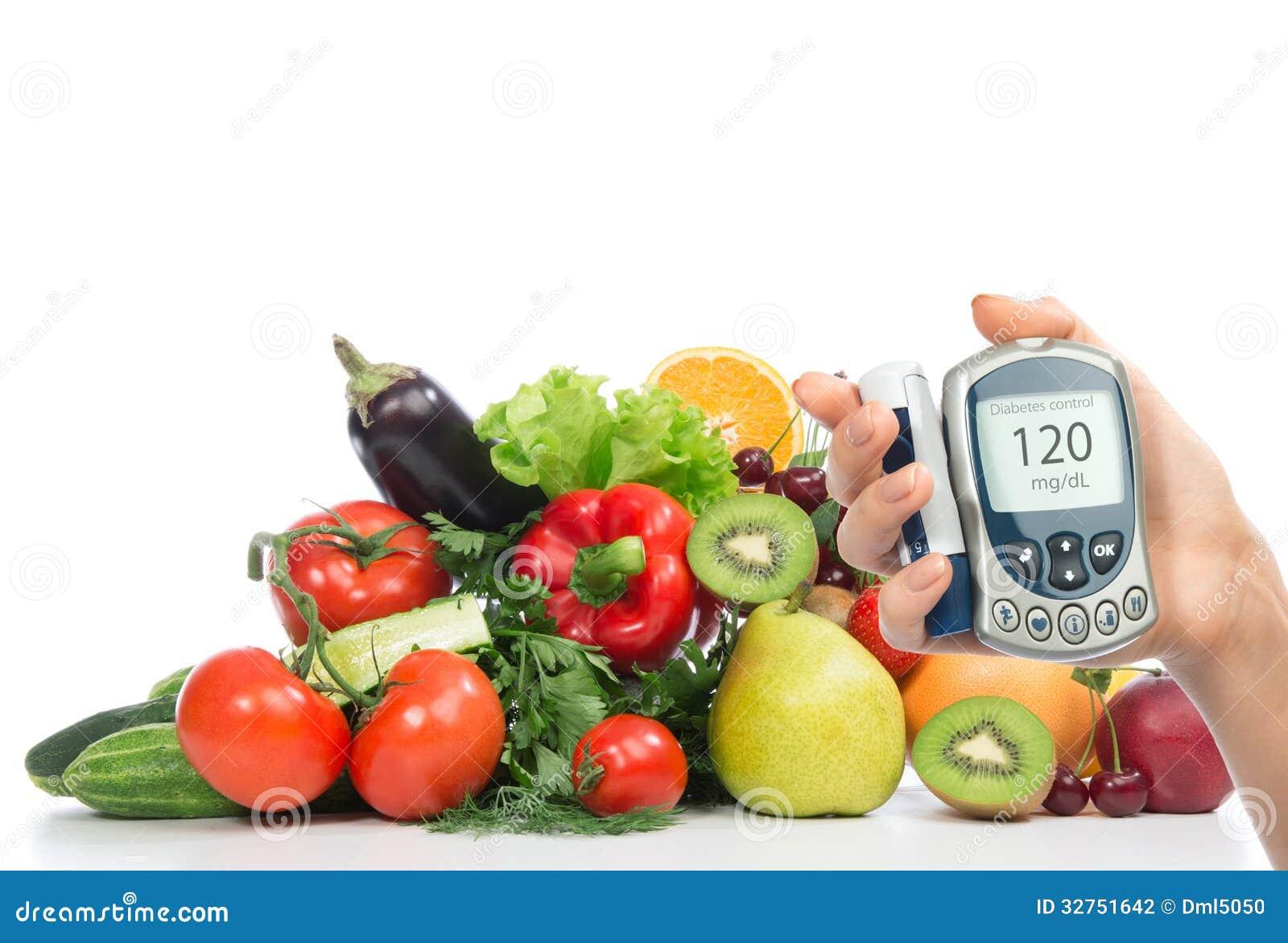 Fruits et l gumes de m tre de glucose de concept de diab te photographie stock image 32751642 - Fruits et legumes de a a z ...