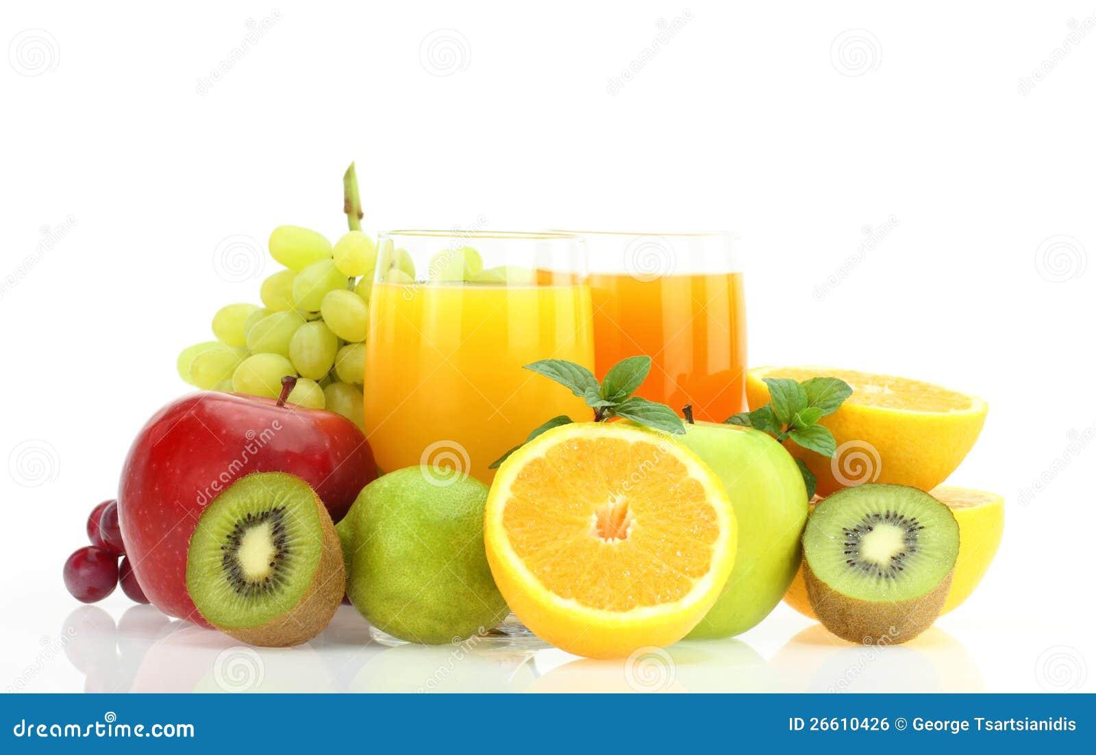 Fruits frais et jus photo stock image du r gime frais - Conservation jus de fruit frais ...