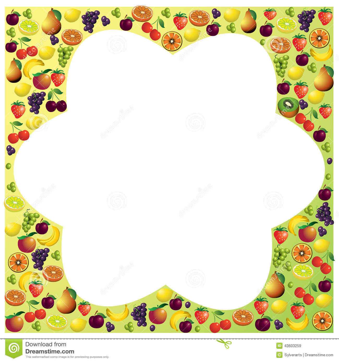 Fruits Frame Made With Different Fruits Healthy Food