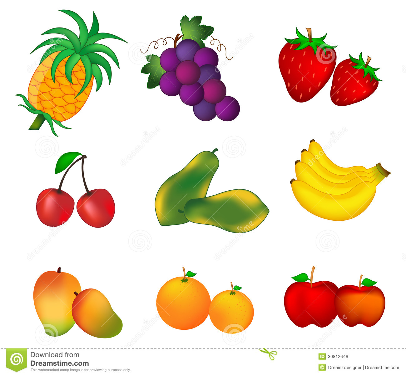 cliparts of fruits and vegetables - photo #45