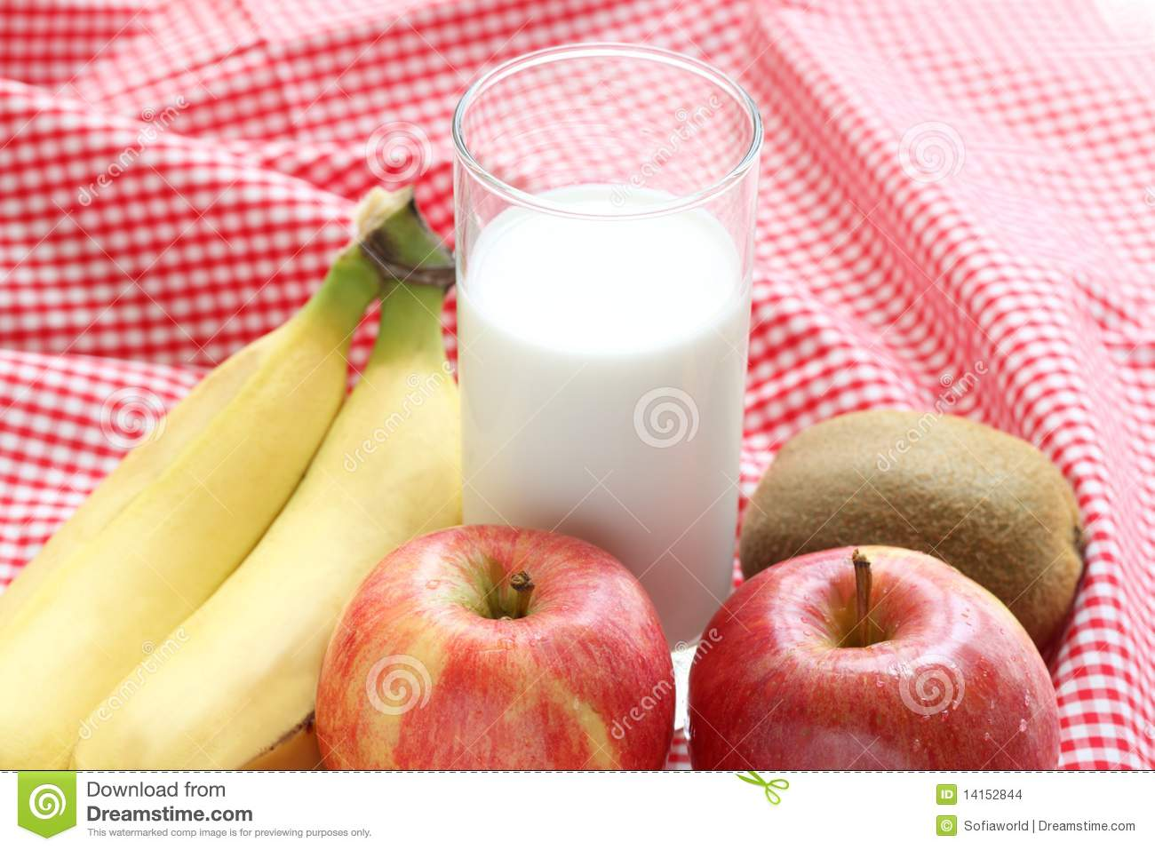 Fruits And Milk Stock Images - Image: 14152844