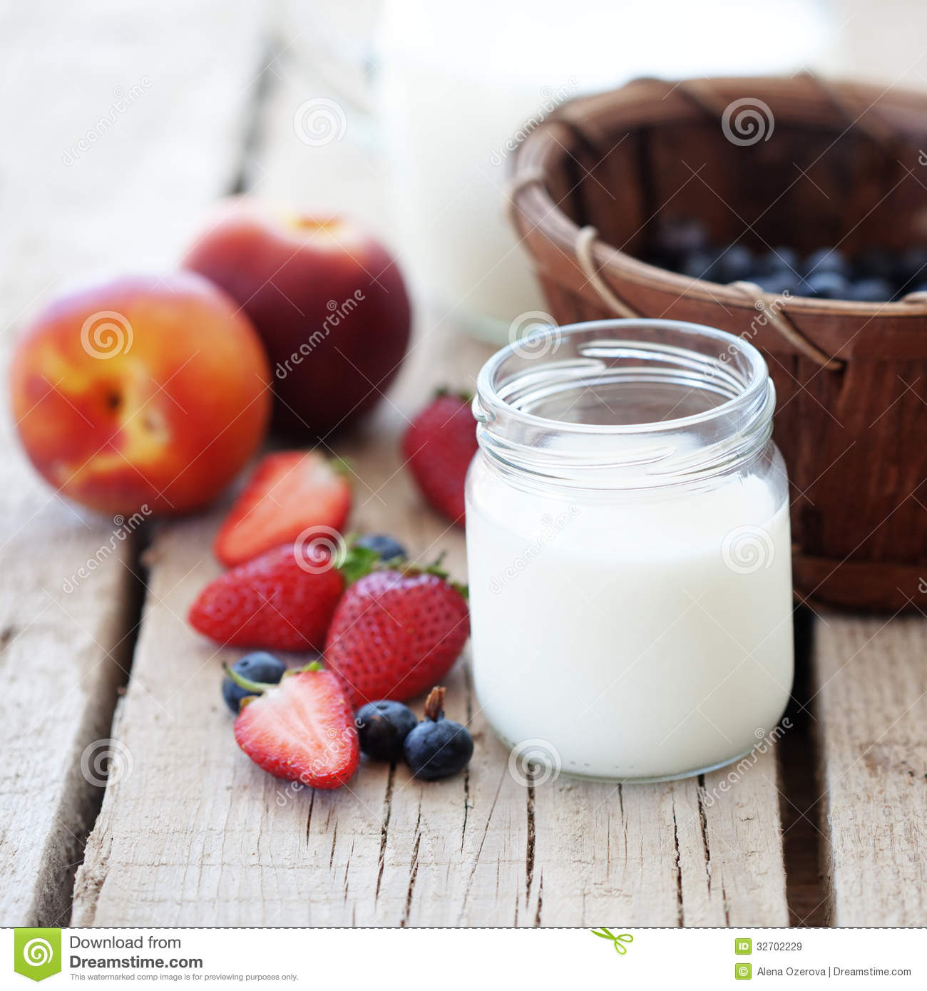 Fruits And Milk Stock Image Image Of Homemade Diet