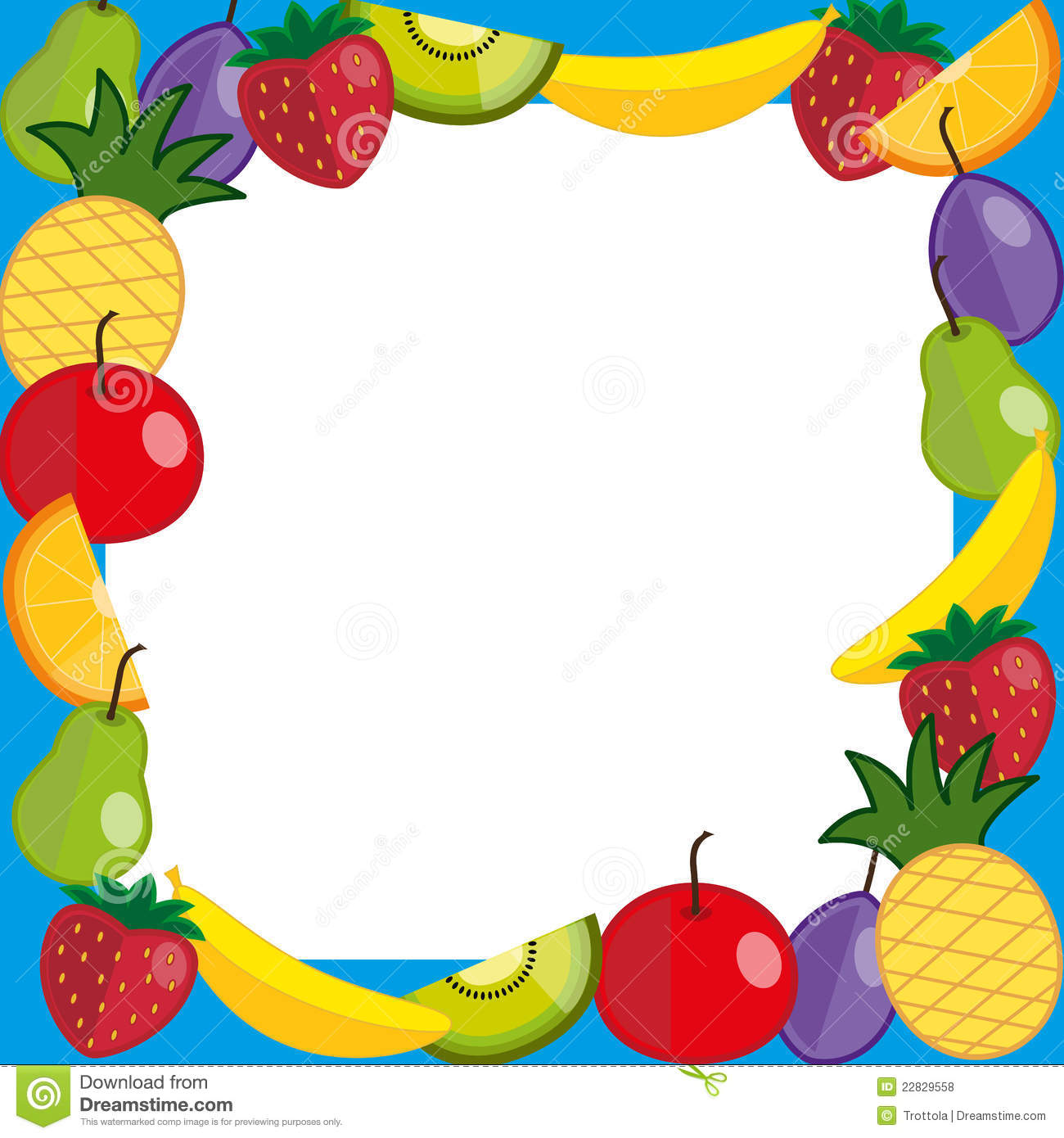 Fruits Photo Frame Royalty Free Stock Photos - Image: 22829558