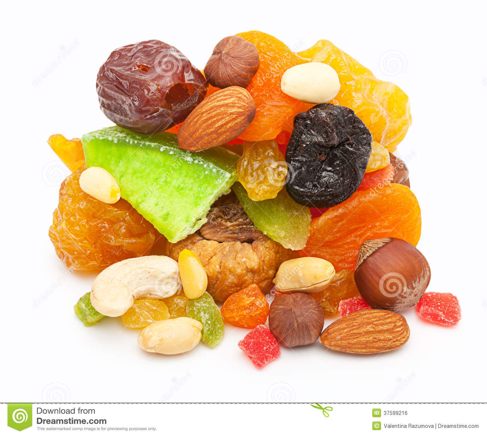 Fruits secs par mélange et écrous d isolement