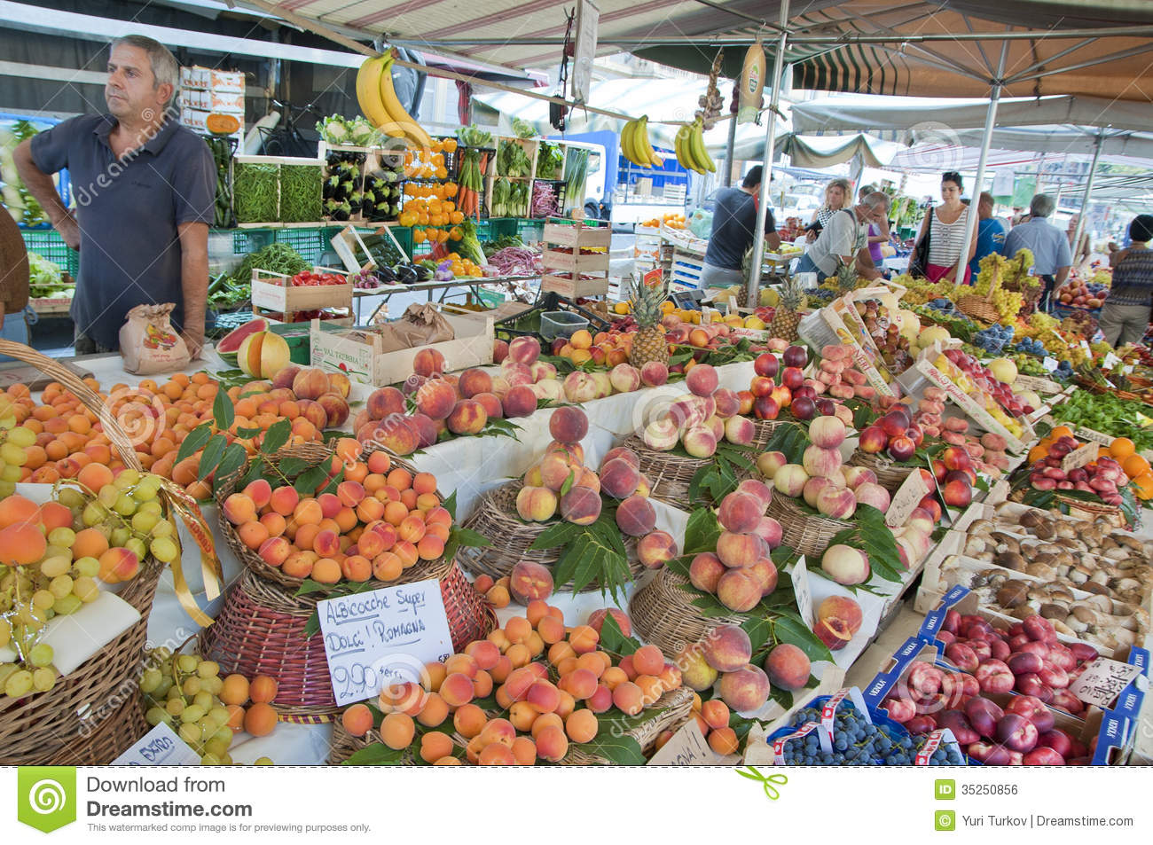 The fruits seller editorial photo image 35250856 for Milan food market