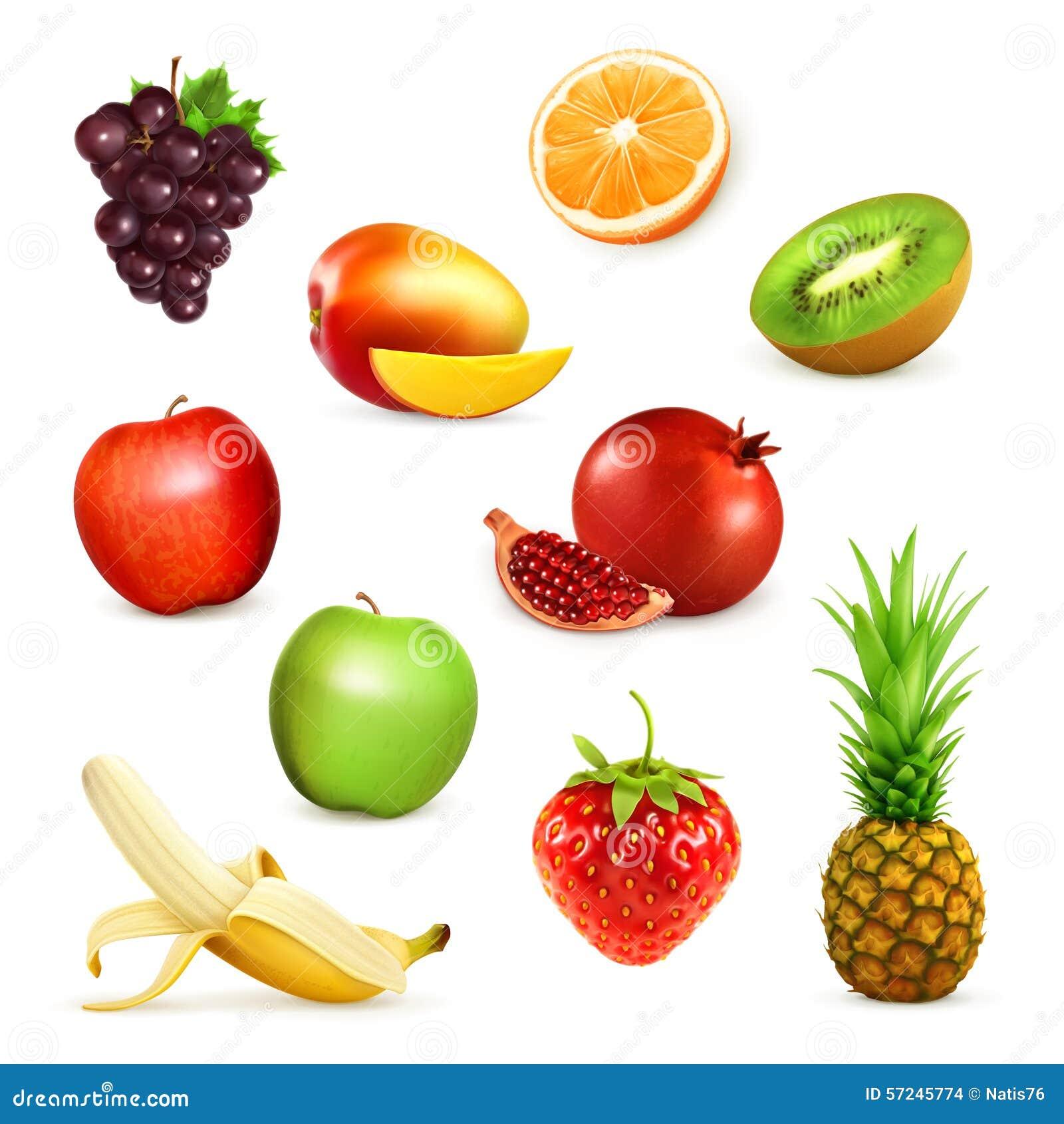 Fruits vector illustrations