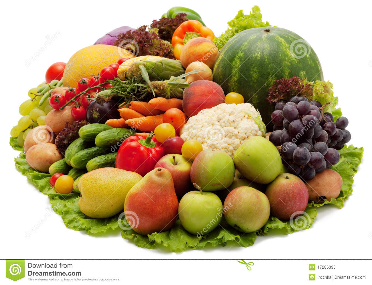 Fruits And Vegetables Stock Image Image Of Colourful 17286335