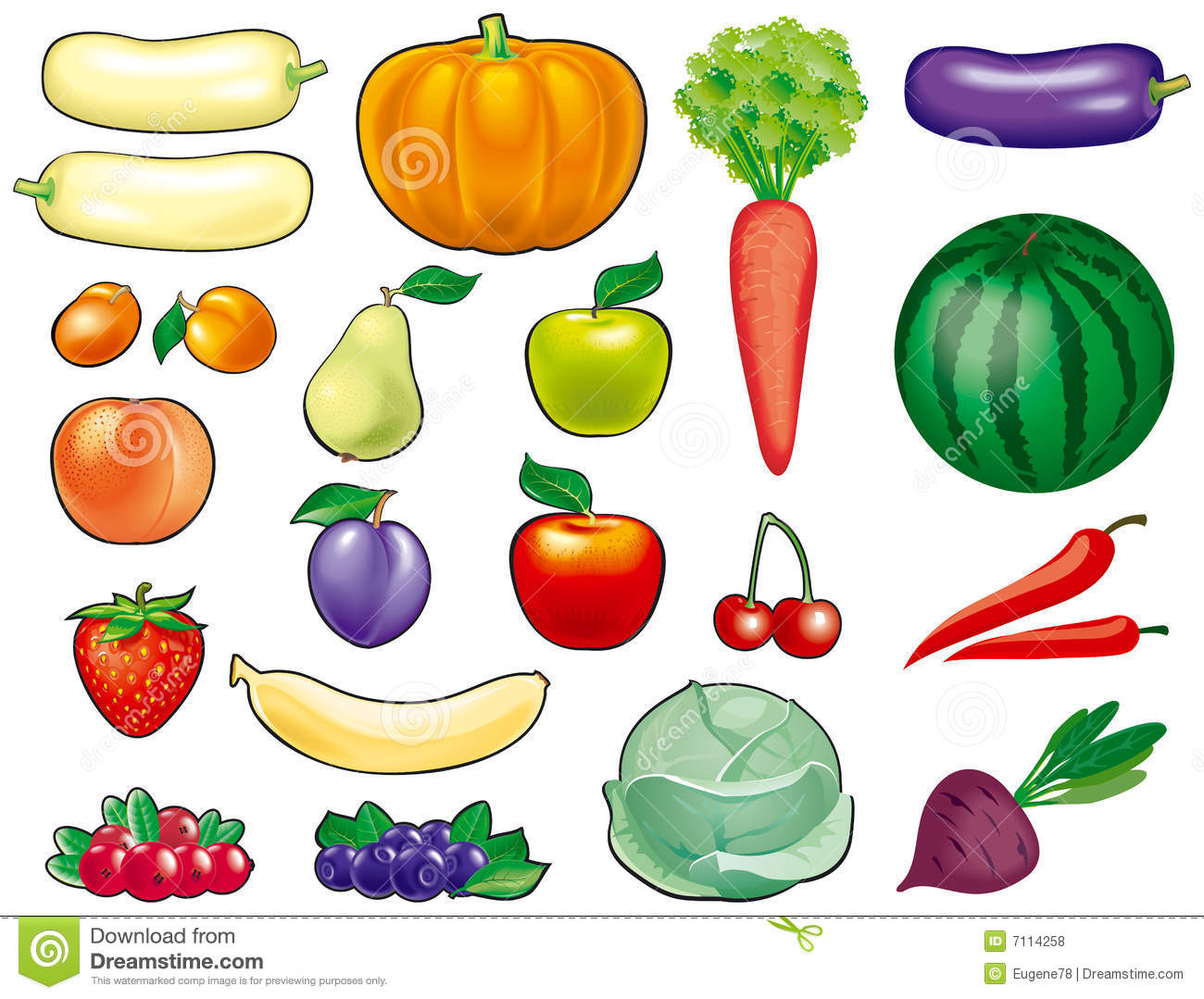 Fruits And Vegetables Royalty Free Stock Photos Image