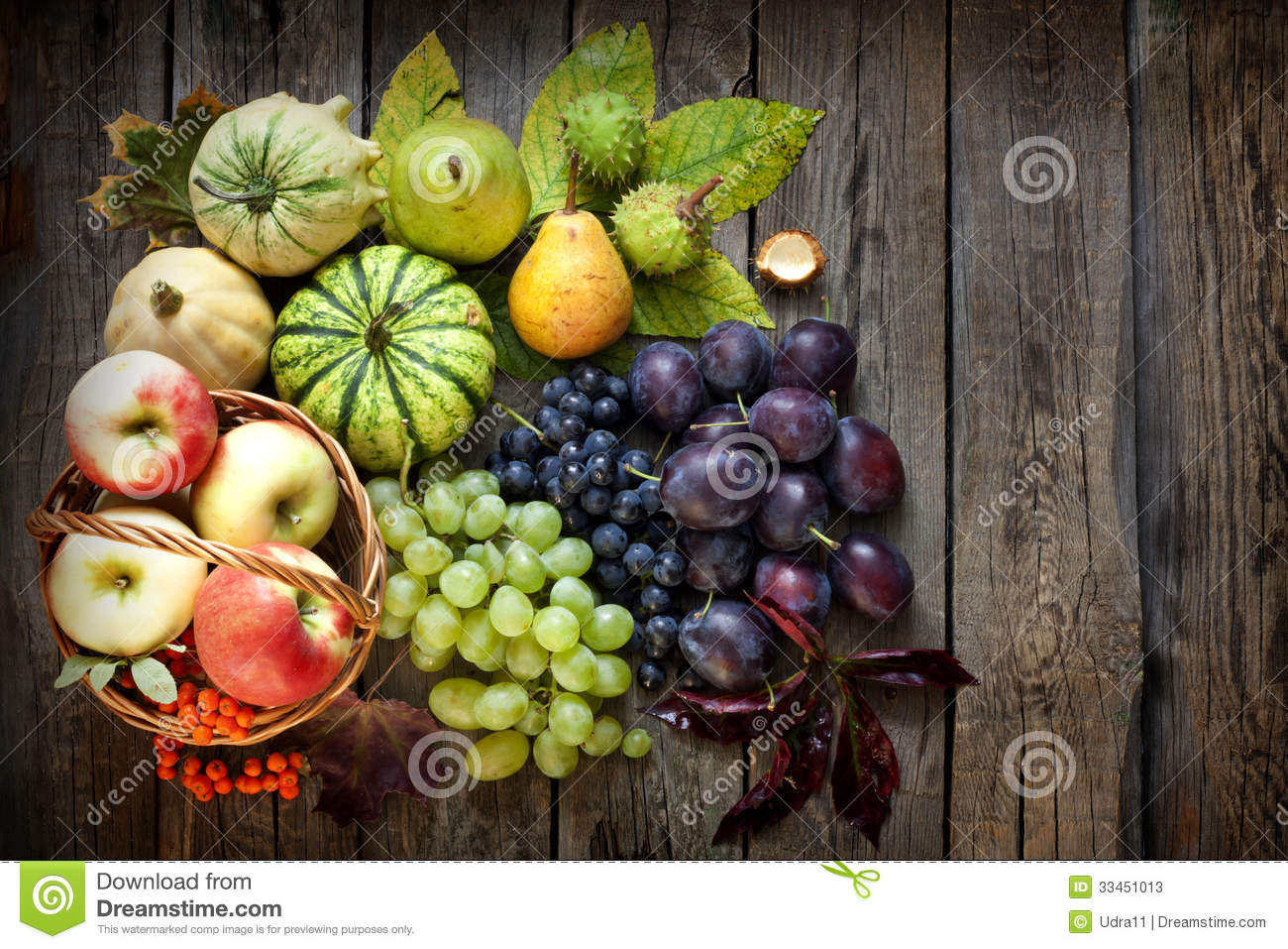 Fruits And Vegetables In Autumn Season Stock Photos