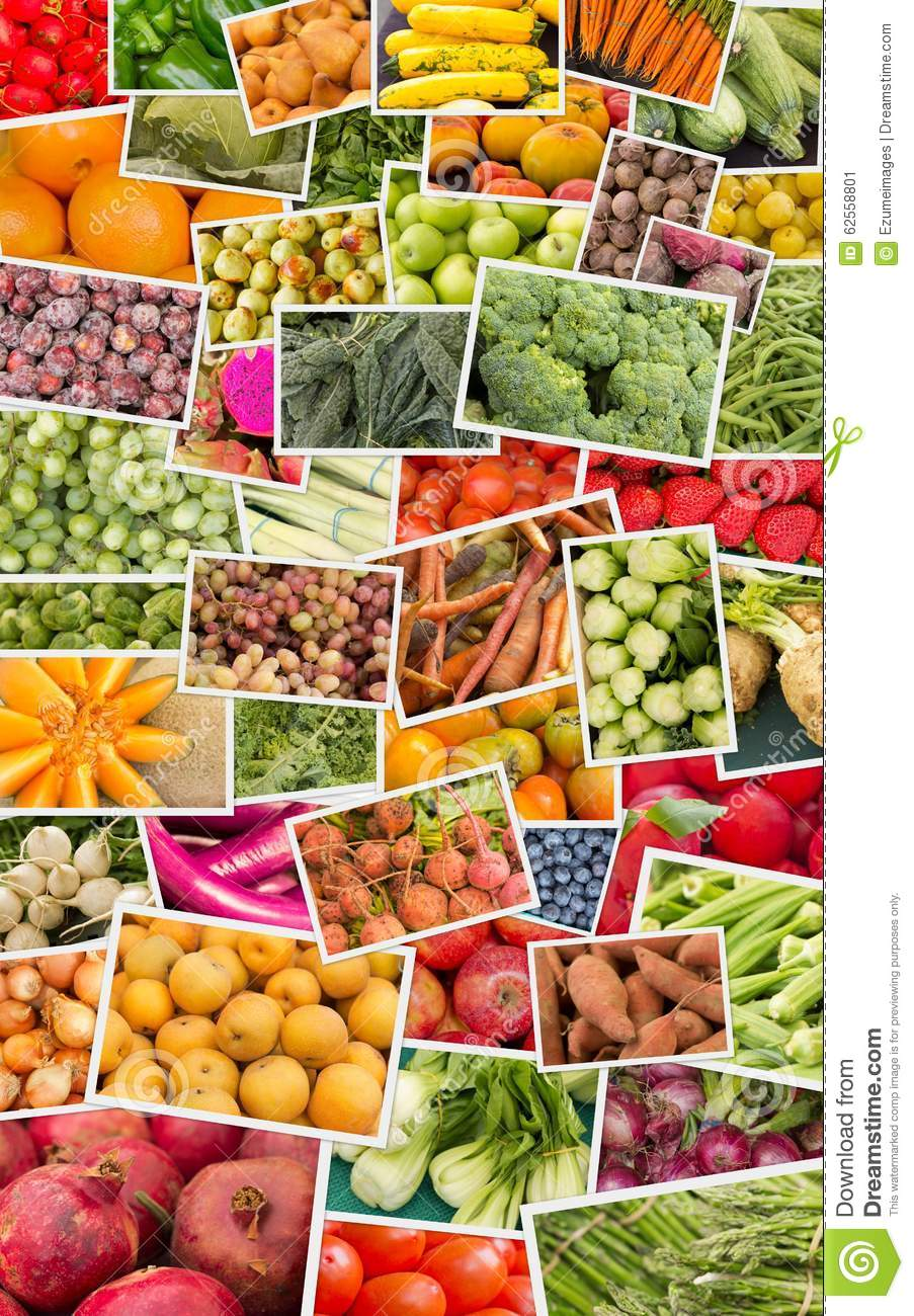 fruits and vegetables collage stock image image of broccoli